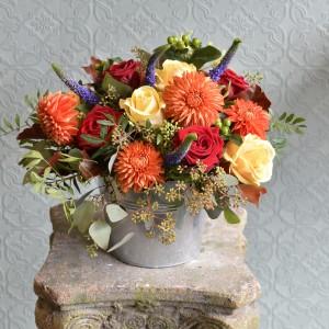 Bucket of Flowers Arrangement