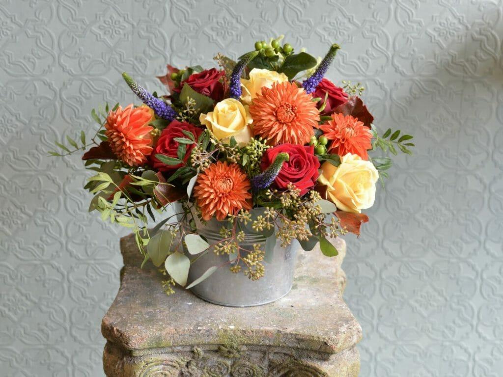 Bucket Of Flowers Kensington Flowers
