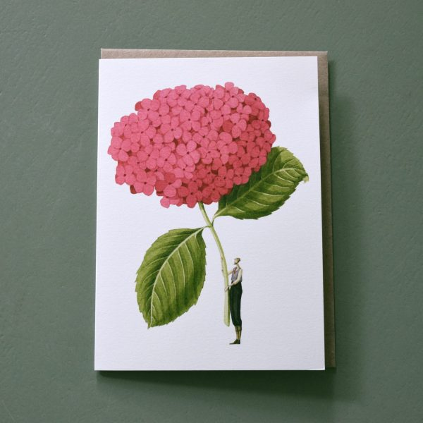 Photo showing a sample gift card by designer Laura Stoddart available to but with a flower order from Kensington flowers London
