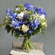 Blue and White Scented Country Garden Bouquet