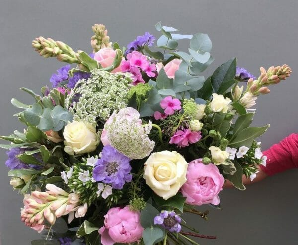 Photograph of a Scented garden bouquet available from Kensington Flowers London