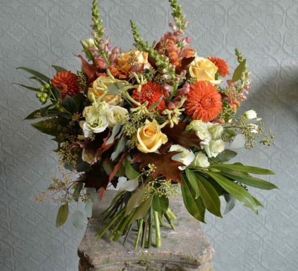 Photo showing a sample of a Mixed Colour Studio Choice Bouquet Kensington flowers, London