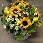 Sunflower Scented Country Garden Vase Arrangement