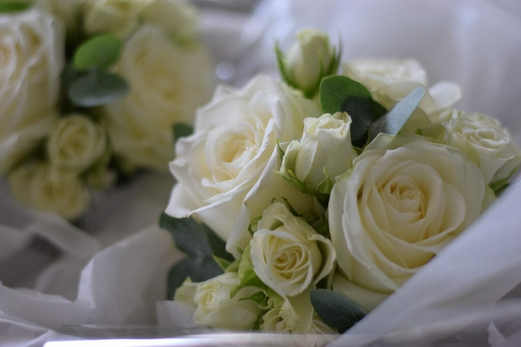 Rose bridal flowers