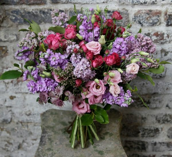 Pink purple bouquet /scented garden bouquet from Kensington Flowers, London