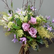 Rose and clematis bouquet