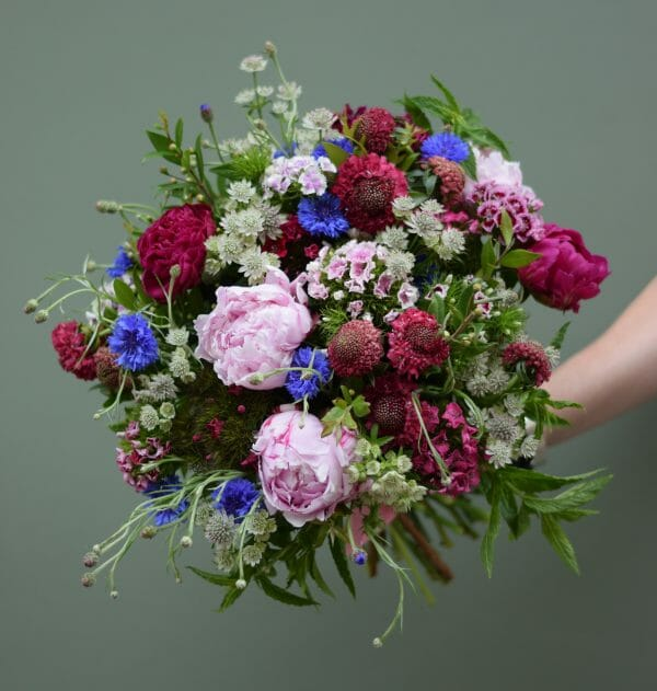 Photo of a British Flower studio florist choice bouquet Kensington flowers