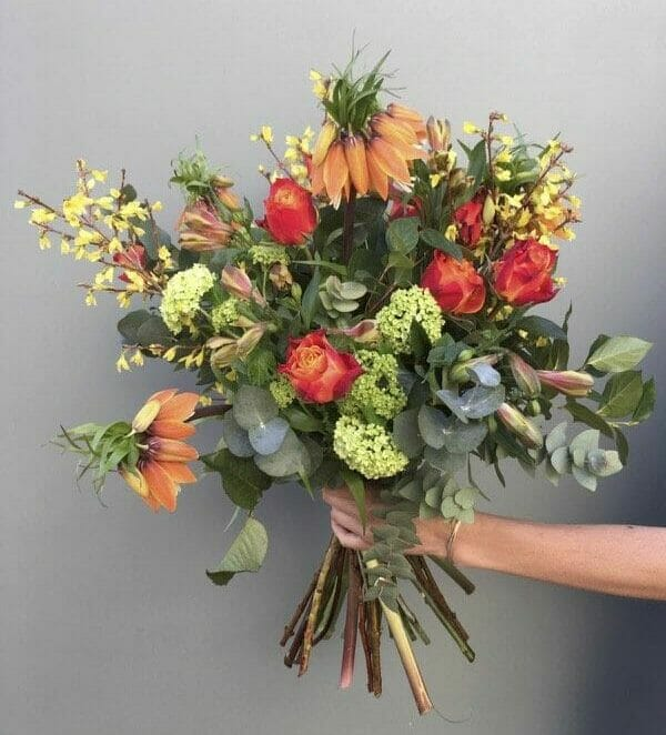Photo showing a sample bouquet of a Handful bunch flowers available at Kensington flowers London
