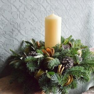 Christmas Candle arrangement