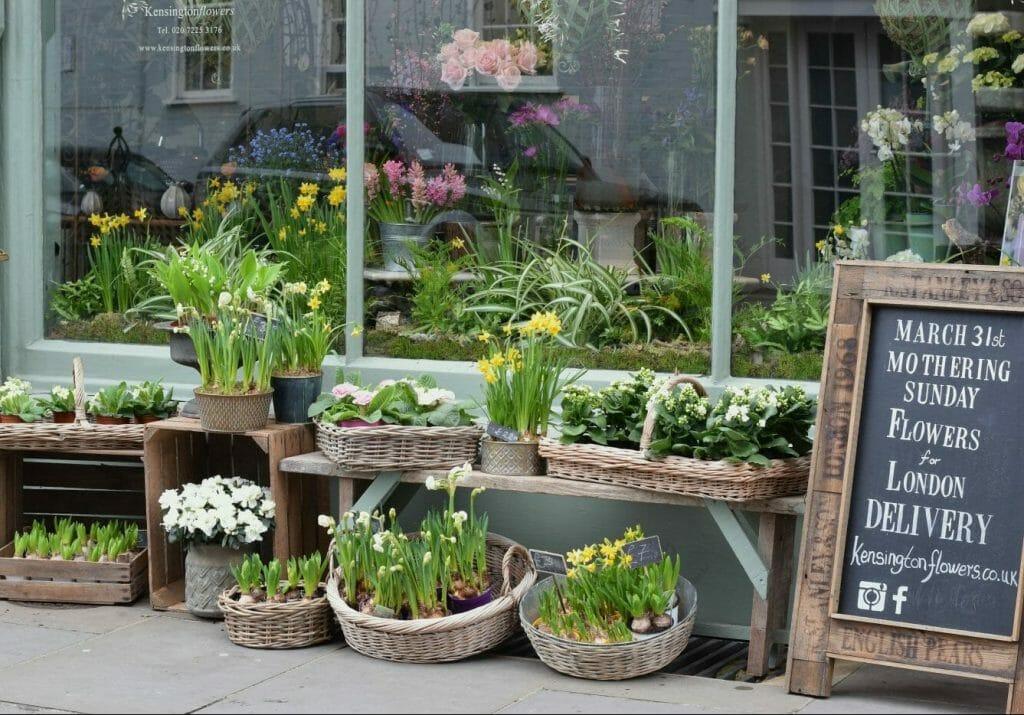 Kensington Flowers Shop front March