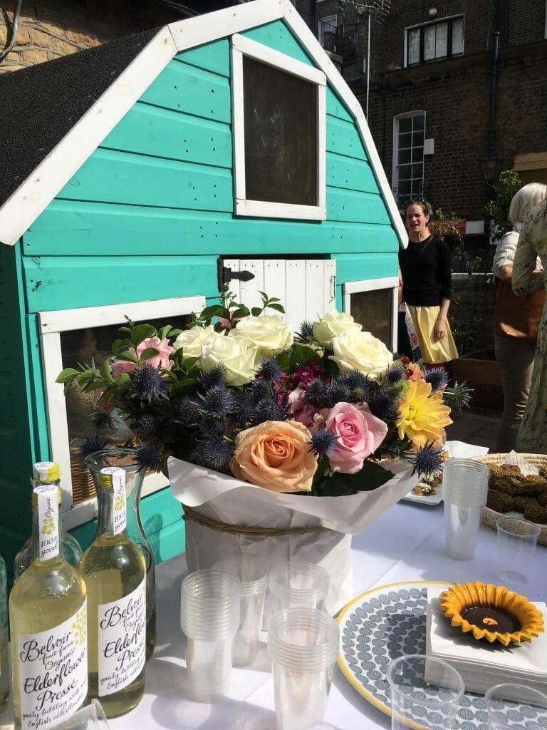 Kensington Flowers Flowers opening charity garden Christ Church healthy eating schools local florist
