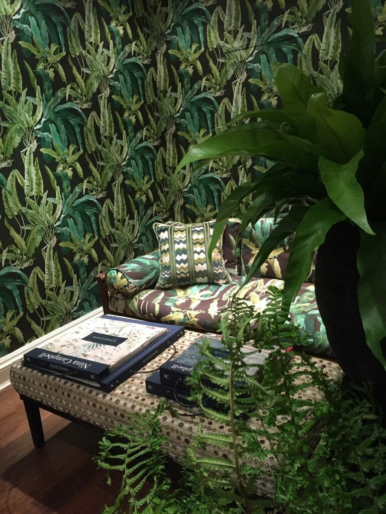 Osborne and Little showroom Nina Campbell Ashdown collection Benmore wallpaper