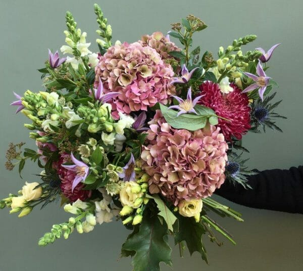 Photo showing a sample of a Florist choice bouquet Kensington Flowers London