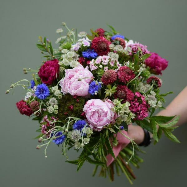 Photo of a British Flower studio florist choice bouquet Kensington flowers