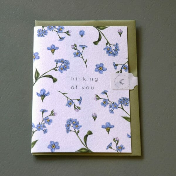 Photo showing a sample of an Catherine Lewis gift card available to buy with flowers at Kensington flowers London