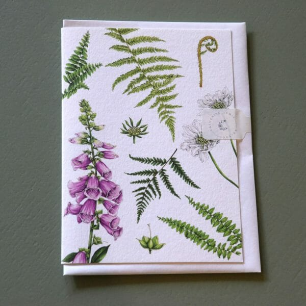 Photo showing a sample of a Catherine Lewis gift card available to buy with flowers at Kensington flowers London