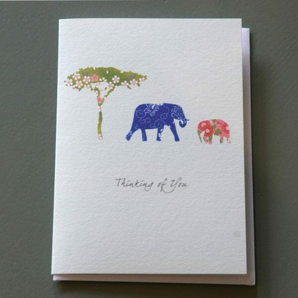 Photo showing a sample of an Eloise Hall gift card available to buy with flowers at Kensington flowers London