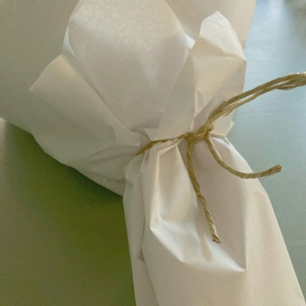 photo showing a sample of our gift wrapping of flower bunches at Kensington flowers London