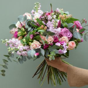 Scented garden bouquet Pink shades available from Kensington flowers London