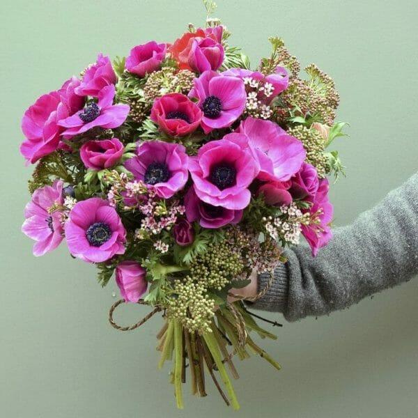 Photo showing a sample of a vivid pink Studio choice Kensington flowers London