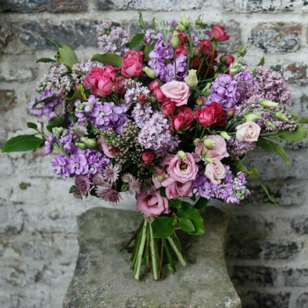 Pink purple bouquet /scented garden bouquet from Kensington Flowers, London
