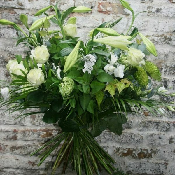 Photo of a sample of a white seasonal Hand tied bouquet Kensington flowers